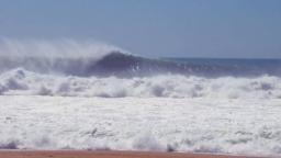 Nazare Beach Surfing Photo