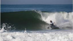 Damien Hobgood takes on a Clean J Bay Face