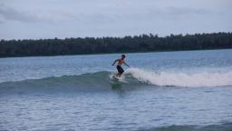 Surf in Lagundri Beach Nias Island