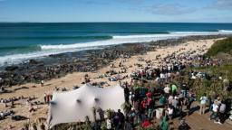 The line up at Jeffreys Bay