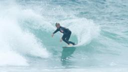 Leo Fioravanti Surfing Small Waves at Piha