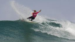 Coco Ho Claiming The Rip Curl Pro Search at Belgas