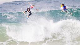 Patrick Gudauskas downs Slater at Quik Pro France