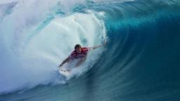Dane Reynolds Performs at Teahupoo