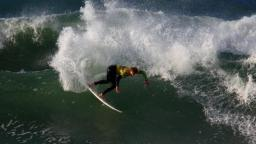 Reubin Pearce at Fistral in the Animal Newquay 09