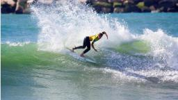 Marlon Lipke at the Rip Curl Pro Search Mohle Leste