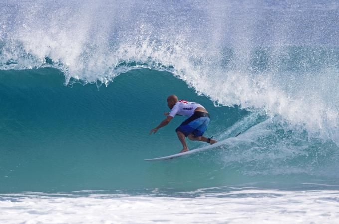 Kelly Slater Barreled at Snapper Rocks