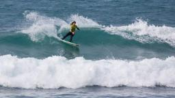 Rebecca Woods in the 2009 Rip Curl Pro