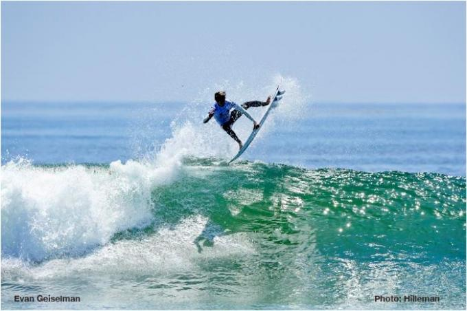 Evan Geiselman with a big air at the Oakley Lowers Pro Junior