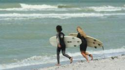 Me & Jess surf Captiva's speed bumps