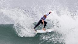 Mick Fanning defending Hurley Pro at Trestles champion