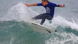 Josh Piper competing at Surf Relief in Newquay