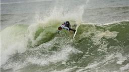 Eric Geiselman Surfing a Large Swell at Cox Bay