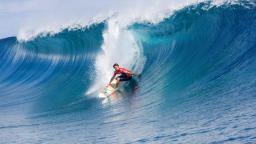 Dane Reynolds Drops in at Teahupoo, Tahiti
