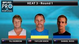 Round 1 - Heat 3: Burrow vs. Knox vs. Ross