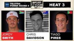 Rip Curl Pro 2011 R4, H3 - Jordy Smith vs Chris Davidson vs Tiago Pires