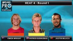 Round 1 - Heat 4: Wright vs. Gudauskas vs. Mujica
