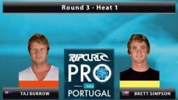 Round 3 - Heat 1: Burrow vs. Simpson