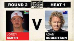 Rip Curl Pro 2011 Jordy Smith vs Adam Robertson R2, H1