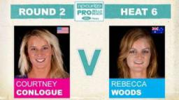 Rip Curl Pro 2011 Courtney Conlogue vs Rebecca Woods R2, H6