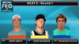Round 1 - Heat 5: Smith vs. Davidson vs. Alves