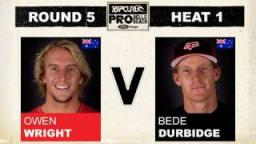 Rip Curl Pro 2011 R5, H1 - Owen Wright vs Bede Durbidge