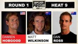 Rip Curl Pro 2011 Damien Hobgood vs Matt Wilkinson vs Daniel Ross R1, H9