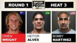 Rip Curl Pro 2011 Owen Wright vs Heitor Alves vs Bobby Martinez R1, H3