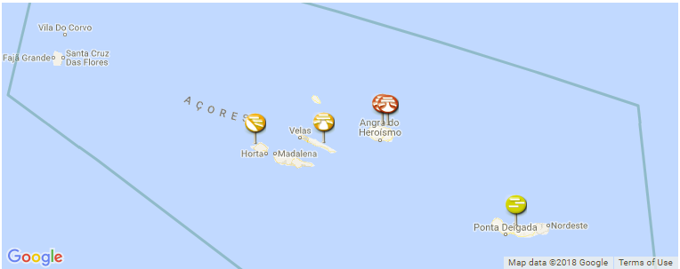 Azores Surf Spot Map Guides And Photos