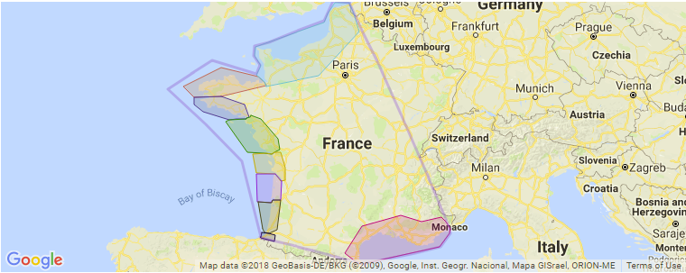 Map Of France And Luxembourg.Surfing In France A Guide To The Best Surf Spots And Regional