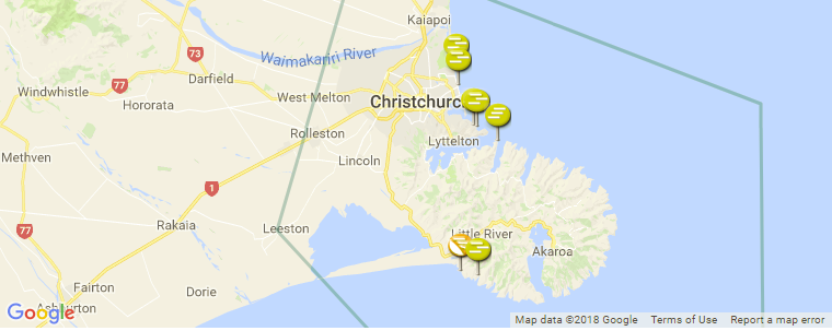 Christchurch Surf Guide, Maps, Locations and Information on