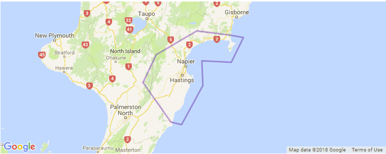 Napier New Zealand Map.Hawkes Bay Surf Guide Maps Locations And Information