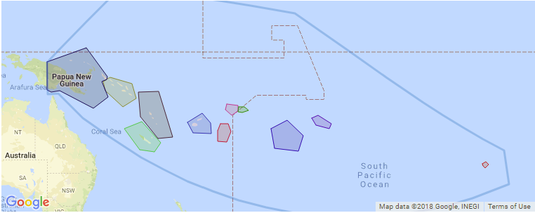 Surf Spot Locations, Maps and Information on Pacific Islands in ...