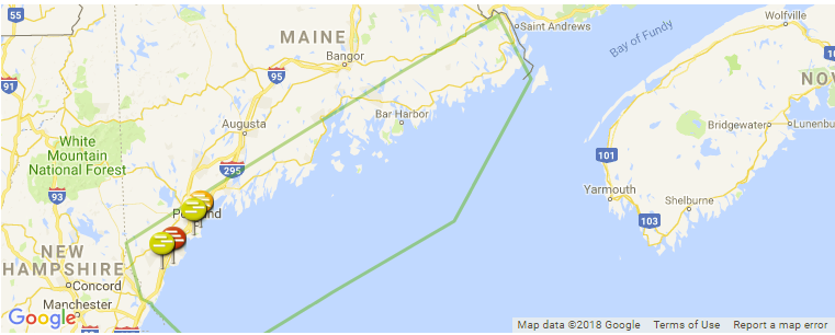 Maine Surf Guide Maps Locations And Information