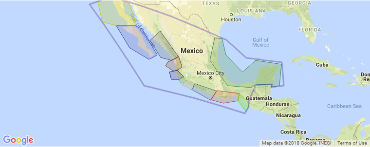 mexico surf map