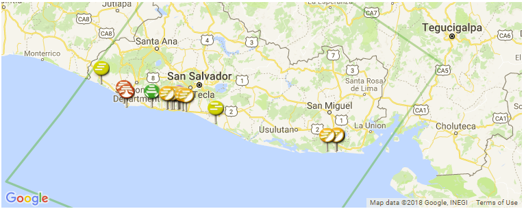 El Salvador Surf Guide And Spot Map