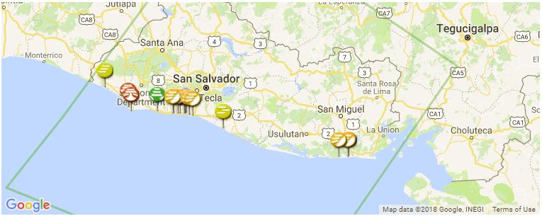 El Salvador Surf Guide and Spot Map