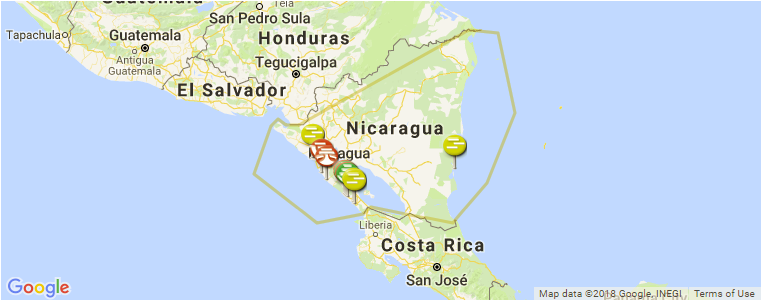 Nicaragua Surf Guide, Maps, Locations and Information