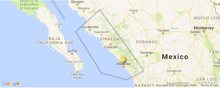Culiacan Sinaloa Mexico Map.Sinaloa Surf Guide Maps Locations And Information