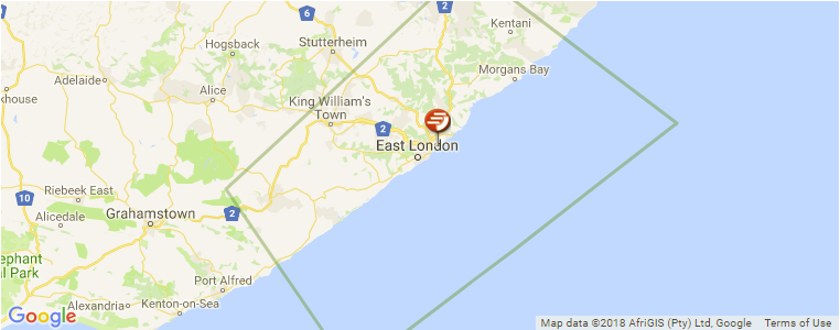 East London On Map.East London Surf Guide Maps Locations And Information