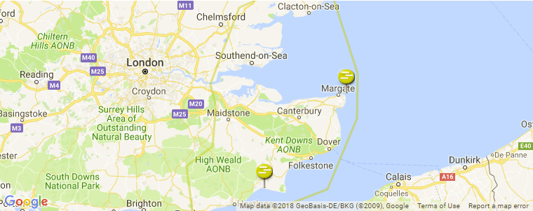 Se England Map.South East England Surf Guide Maps Locations And Information