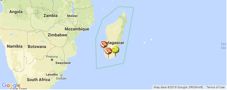 Map Of Africa Madagascar.Surf Spot Locations Maps And Information On Madagascar In Africa