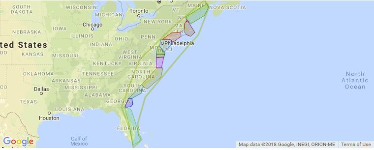 east coast surf map