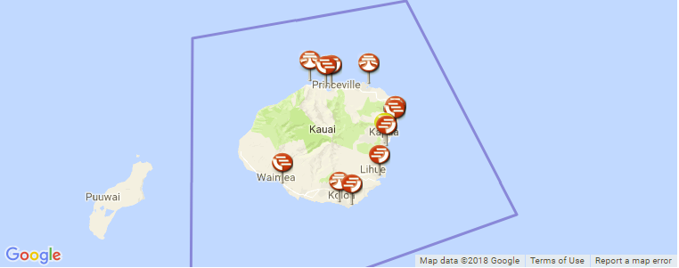 kauai surf spots map Kauai Surf Guide Maps Locations And Information kauai surf spots map