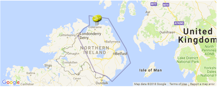 Map Of Ireland Northern Ireland.Northern Ireland Surf Guide Maps Locations And Information