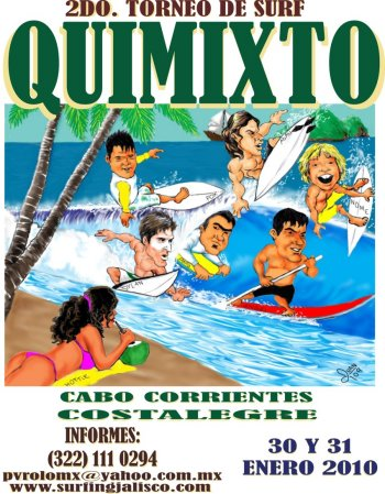 Quimixto Open 2010 Surfing Competition Poster