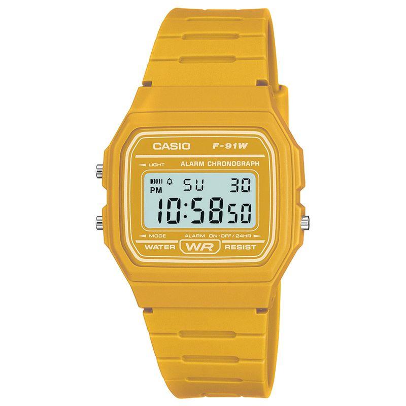 G Shock Retro Casual Watch Yellow