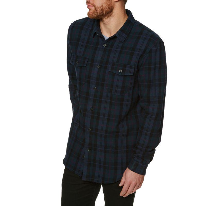 387917d23a2 Globe Flanigan Long Sleeve Shirt - Marine