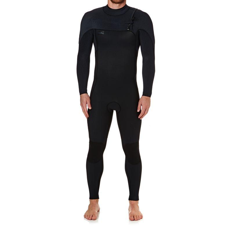 303e4953ab O Neill Hyperfreak 4 3 2018 Chest Zip Wetsuit - Black  Black