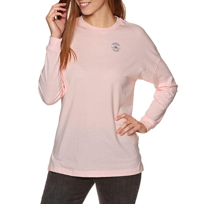 a09d1d2d4ab3 Converse Shine Long Sleeve T-shirt - Arctic Pink